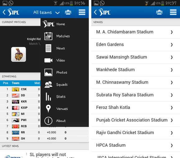 Official BCCI app