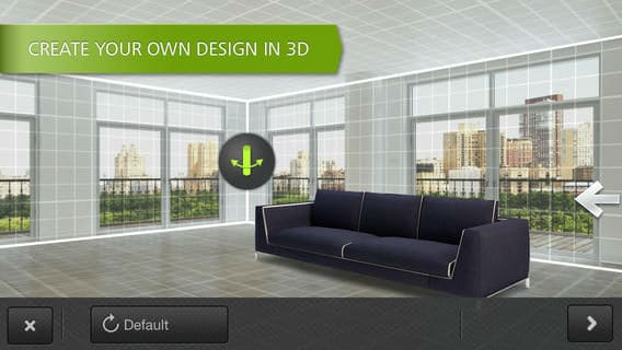 Homestyler Interior Design app for iPad
